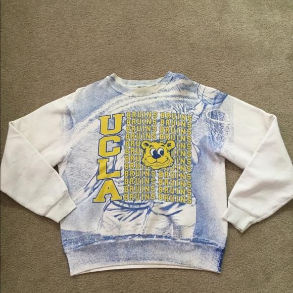the latest 43e9c 0b2a7 Mens Vintage UCLA Basketball Crew Sweatshirt Large